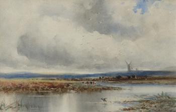 The River Frome, Nr. Wareham, Dorset, Edmund Morrison Wimperis