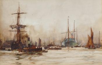The Pool of London, Charles Edward Dixon