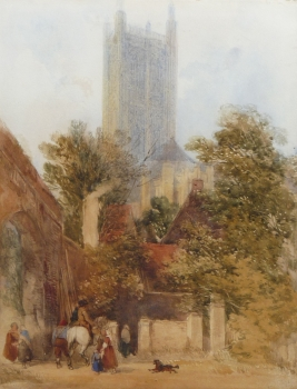 Cathedral Street, Canterbury, Kent, William Callow