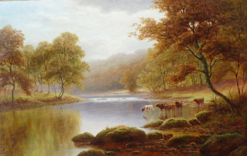 On the Wharfe, Bolton Woods, Yorkshire, William Mellor