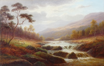On the Lledr, North Wales, William Mellor