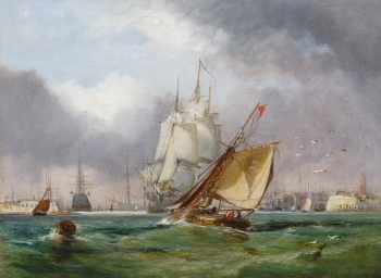 View of Portsmouth Harbour 1, George Chambers