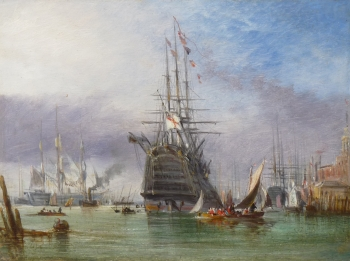 View of Portsmouth Harbour 2, George Chambers