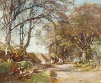 View nr Muthill, Crieff, Scotland (or near Edzell, Scotland), James Lawton Wingate
