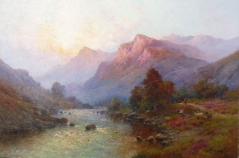 Evening on a West Highland River, A. De Beanski Jnr