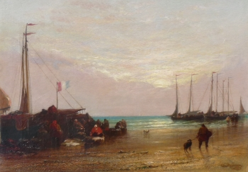 Scheveningen Beach, Morning, Arthur Joseph Meadows