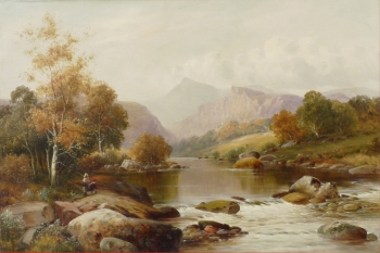 Autumn on the Lledr, North Wales, William Henry Mander