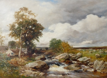 Fisherman on a Rocky Stream, David Bates