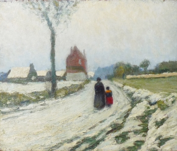 Woman with Child on a Lane, Oscar koelliker