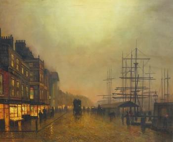 Salthouse Dock, Liverpool, John Atkinson Grimshaw