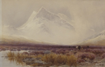 Snowstorm on Snowdon, James Jackson Curnock
