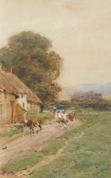Milking Time, Claude Hayes