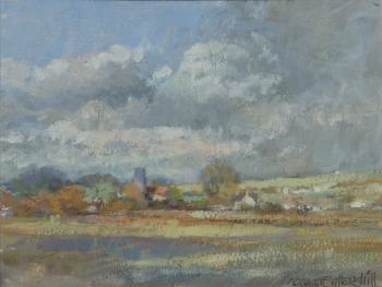 A Dorset Village Scene (Marnhull?), Norman James Battershill