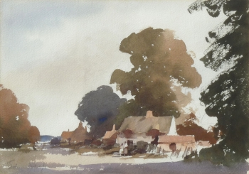 Cottages near Ingham, Norfolk, Edward Brian  Seago