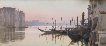 Venice at Dusk, Italy, Alexandre Nicolaievich Roussoff