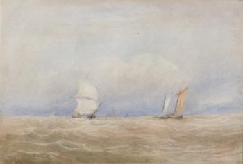 Shipping in a Breeze, David Cox senior