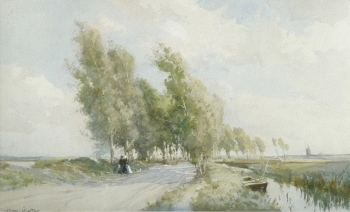 A Fenland Road, William Tatton Winter