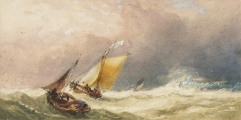Fishing Boats in a Squall, Charles Bentley