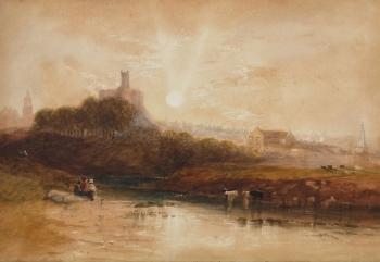 Warkworth Castle, Northumberland, Thomas Miles Richardson Snr