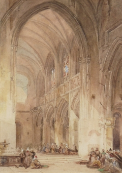 Interior of a Continental Cathedral, Thomas Shotter Boys