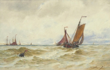 Off Scheveningen, Holland, Thomas Bush Hardy