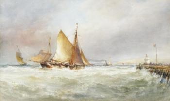 Fishing Boats off Wicklow Head, Ireland, Edwin Hayes