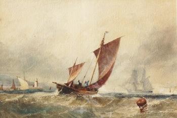 Fishing Boats in a Fresh Breeze, Edwin Hayes