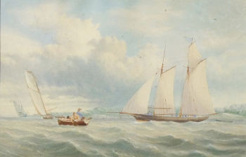 Yachts Setting Off, George Chambers
