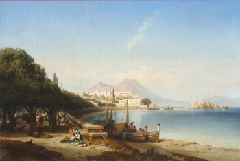 The Bay of Naples, Italy, William Wyld