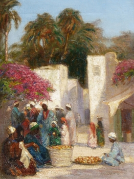 An Arab Market, Augustus William Enness