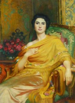 Portrait of Elsa, Daughter of William Hall esq., Sir Frank Bernard Dicksee