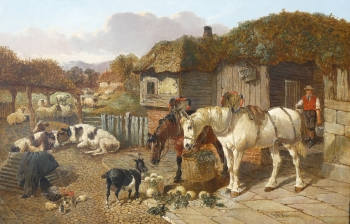 Busy Farmyard Scene, John Frederick Herring Jnr