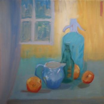 Still Life in Blue, Orange and Yellow, Kristina Lamb