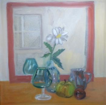 Still Life with Mirror & Glassware, Kristina Lamb