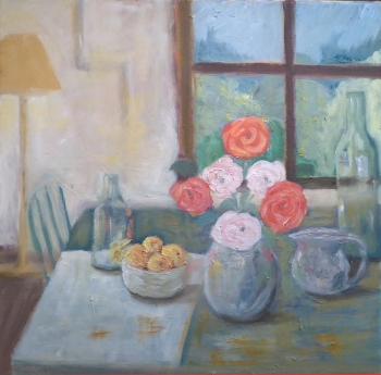 Still Life with Roses in a Vase, Kristina Lamb