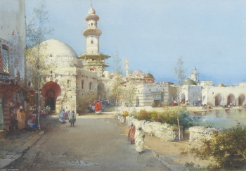 A Street of Mosques, Algeria, Noel Harry Leaver