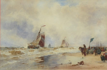 Coming in with the Tide, Scheveningen, Thomas Bush Hardy