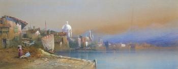 A Continental Lakeside Town, Edward Miles Richardson