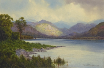 A Passing Gleam-Head of Bassenthwaite Lake, Cumbria, Edward Horace Thompson
