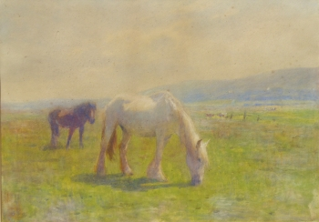 Horses Grazing, Amberley, Sussex, Arthur Winter Shaw