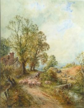 View Near Barcombe, Sussex, Henry John Kinnaird