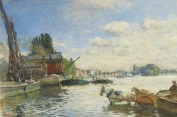 High Tide, Kew Bridge, London, William Ewart Lockhart