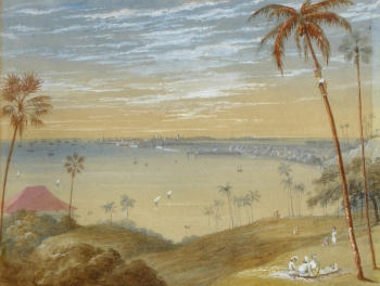 View of Bombay, India, English Colonial School