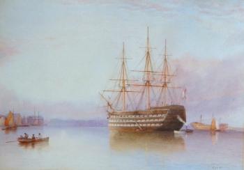 Man o' War at Anchor, Charles Fothergill