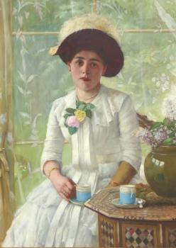 Portrait of a Young Woman, Edwin Harris