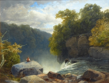 Falls of the Hepste, Wales, James Burrell Smith