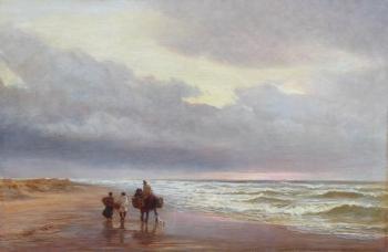 Figures on a Beach, Charles Thomas Burt