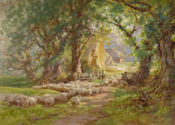 Gathering the Flock, Charles James Adams
