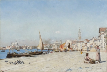 View of Venice with the Bacino San Marco, Arthur George Bell