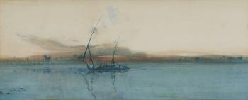 Sunset Over the Nile, Egypt, Augustus Osborne Lamplough